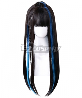 Japan Harajuku Lolita Series Devil Rock Black Blue Cosplay Wig