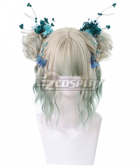 Japan Harajuku Lolita Series Golden Green Cosplay Wig