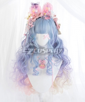 Japan Harajuku Lolita Series Gradient Blue Purple Cosplay Wig