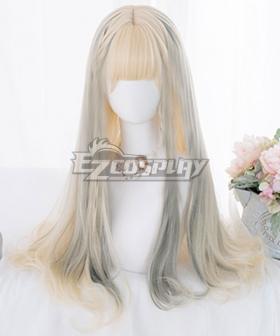 Japan Harajuku Lolita Series Gradient Golden Grey Cosplay Wig