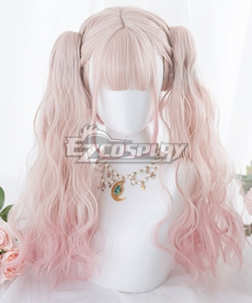 Japan Harajuku Lolita Series Gradient Pink Cosplay Wig