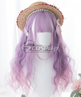 Japan Harajuku Lolita Series Gradient Pink Purple Cosplay Wig