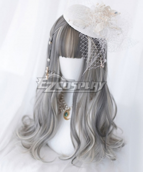 Japan Harajuku Lolita Series Grey Long Cosplay Wig