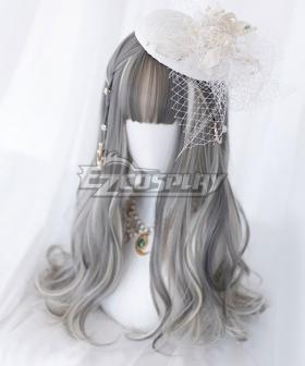 Japan Harajuku Lolita Series Grey Long Cosplay Wig