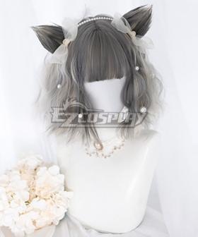 Japan Harajuku Lolita Series Grey Short Cosplay Wig