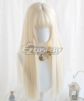 Japan Harajuku Lolita Series Light Golden Long Cosplay Wig