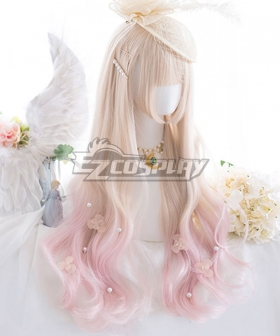 Japan Harajuku Lolita Series Light Golden Pink Cosplay Wig