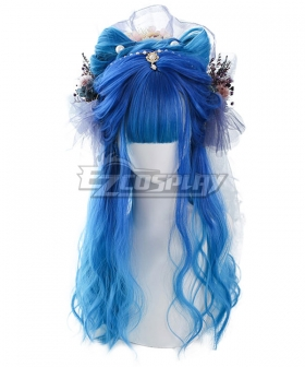 Japan Harajuku Lolita Series Mirror Moon Blue Cospaly Wig