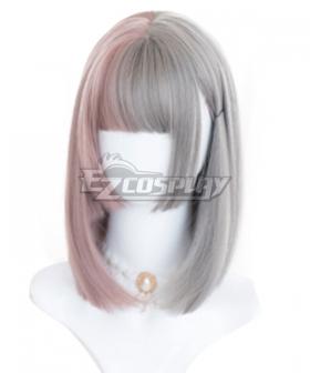 Japan Harajuku Lolita Series Pride and Prejudice Gray Pink Cosplay Wig