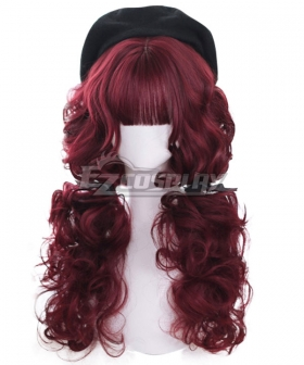 Japan Harajuku Lolita Series Red velvet Red Cosplay Wig