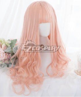 Japan Harajuku Lolita Seriest Light Orange Cosplay Wig - Only Wig