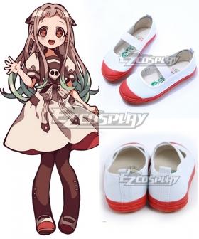 Jibaku Shounen Hanako-Kun Yashiro Nene Whtie Red Cosplay Shoes