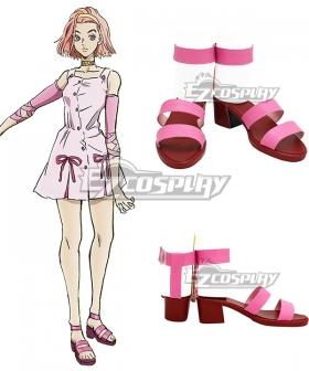 JoJo's Bizarre Adventure Diamond is Unbreakable Reimi Sugimoto Pink Cosplay Shoes