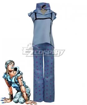 JoJo's Bizarre Adventure Johnny Joestar Blue Cosplay Costume