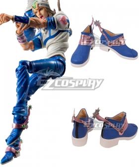 JoJo's Bizarre Adventure Johnny Joestar Blue Shoes Cosplay Boots