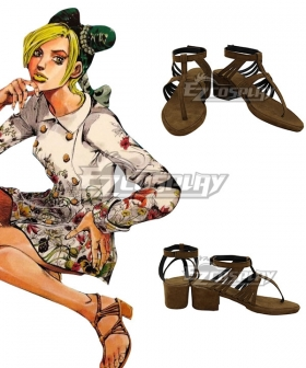 JoJo's Bizarre Adventure JoJo's Bizarre Encyclope Jolyne Cujoh Brown Cosplay Shoes