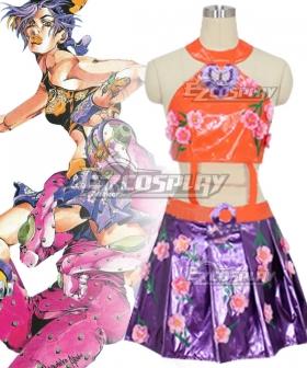 JoJo's Bizarre Adventure JoJo's Bizarre Encyclope Jolyne Cujoh Flower Cosplay Costume