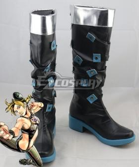 JoJo's Bizarre Adventure: Stone Ocean Jolyne Cujoh Black Shoes Cosplay Boots