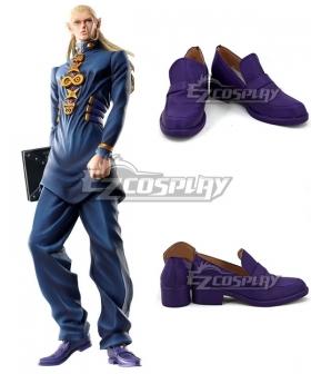 JoJo's Bizarre Adventure Mikitaka Hazekura Purple Cosplay Shoes