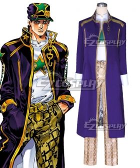 JoJo's Bizarre Adventure: Stardust Crusaders Jotaro Kujo Purple Cosplay Costume