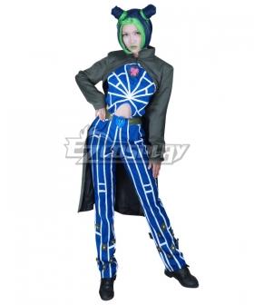 JoJo's Bizarre Adventure: Stone Ocean Jolyne Cujoh Green Blue Cosplay Costume