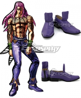 JoJo's Bizarre Adventure: Vento Aureo Golden Wind Diavolo Purple Cosplay Shoes