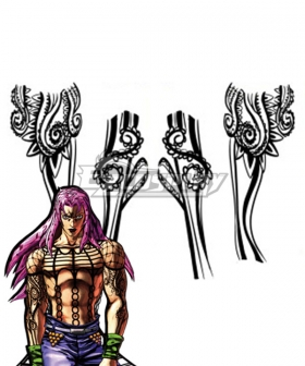 JoJo's Bizarre Adventure: Vento Aureo Golden Wind Diavolo Tattoo sticker Cosplay Accessory Prop