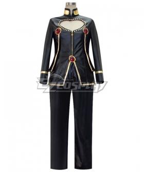 JoJo's Bizarre Adventure: Vento Aureo Golden Wind Giorno Giovanna Black Cosplay Costume Pleather Edition