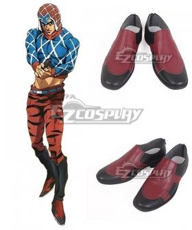 JoJo's Bizarre Adventure: Vento Aureo Golden Wind Guido Mista Black Red Cosplay Shoes