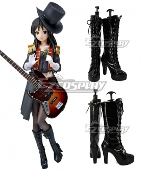 K-ON Mio Akiyama 5th Anniversary Black Shoes Cosplay Boots