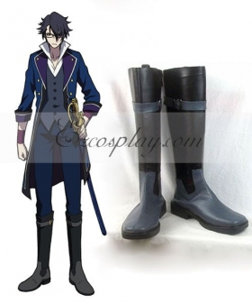 K Fushimi Salomuko Black Shoes Cosplay Boots