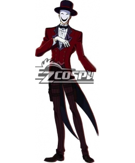 Black Bullet Kagetane Hiruko antagonist Promoter  Initiator White Smile Mask Man Cosplay Shoes