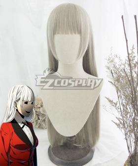 Kakegurui Compulsive Gambler Ririka Momobami Grey White Cosplay Wig