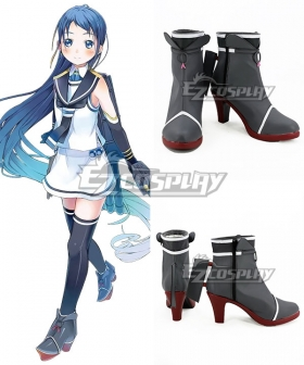 Kantai Collection Samidare Black Cosplay Shoes