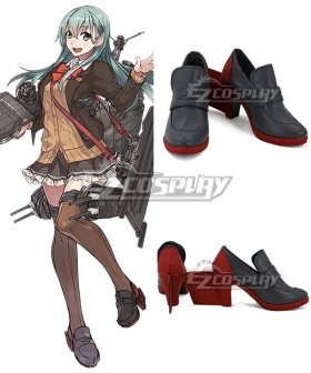 Kantai Collection Suzuya Red Gray Cosplay Shoes