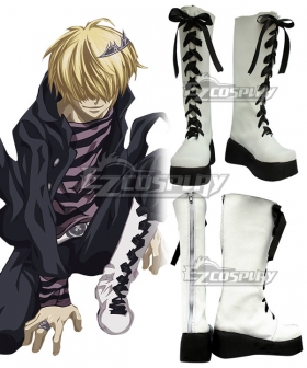Katekyo Hitman Reborn! Superbia Squalo Black Shoes Cosplay Boots