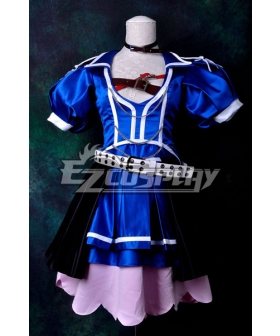 Vocaloid Project Diva F Blue Crystal Meiko Cosplay Costume Delxue-KH9