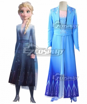 Kids Child Size Disney Frozen 2 Elsa Cosplay Costume