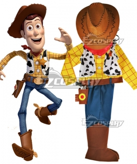 Kids Child Size Disney Pixar Toy Story Woody Cosplay Costume