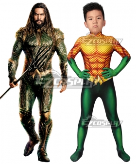 Kids DC Movie Aquaman Arthur Curry Cosplay Costume
