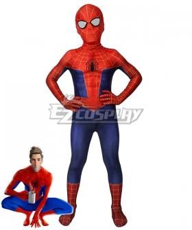 Kids Marvel Spider-Man Into the Spider-Verse Peter Parker Zentai Jumpsuit Cosplay Costume