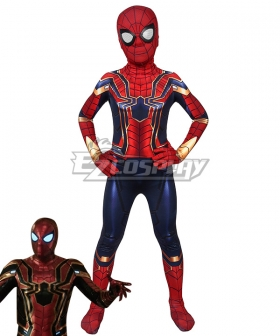 Kids Marvel Spider-Man: Far From Home SpiderMan Peter Parker Steel Zentai Jumpsuit Cosplay Costume