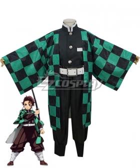 Kids Size Demon Slayer: Kimetsu No Yaiba Kamado Tanjirou Cosplay Costume