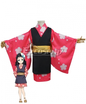 Kids Size Demon Slayer: Kimetsu no Yaiba Rui Cosplay Costume