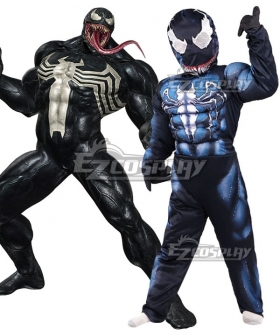 Kids Venom Marvel Eddie Brock Halloween Cosplay Costume