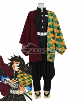Demon Slayer: Kimetsu No Yaiba Giyuu Tomioka Cosplay Costume - Only Costume