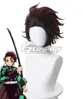 Demon Slayer: Kimetsu No Yaiba Kamado Tanjirou Red Brown Cosplay Wig - 487A