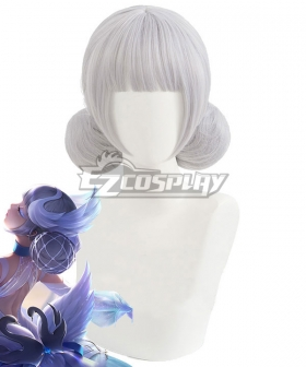 King Glory Honor of Kings Xiao Qiao Dream of Swan White Silver Cosplay Wig