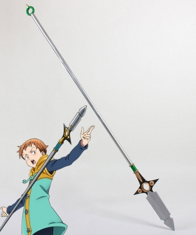 The Seven Deadly Sins / Nanatsu no Taizai King Grizzly's Sin of Sloth Spirit Spear Chastiefol Cosplay Weapon Prop