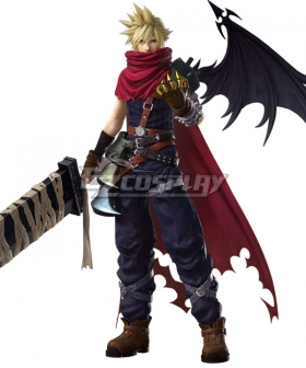 Kingdom Hearts Dissidia Final Fantasy Cloud Strife Cosplay Costume